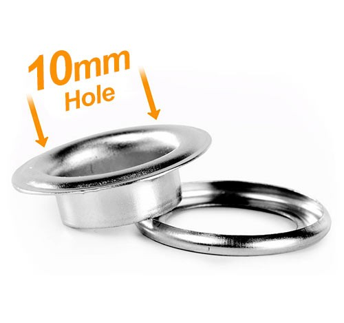 10mm Banner Eyelets Chrome - Pack 500