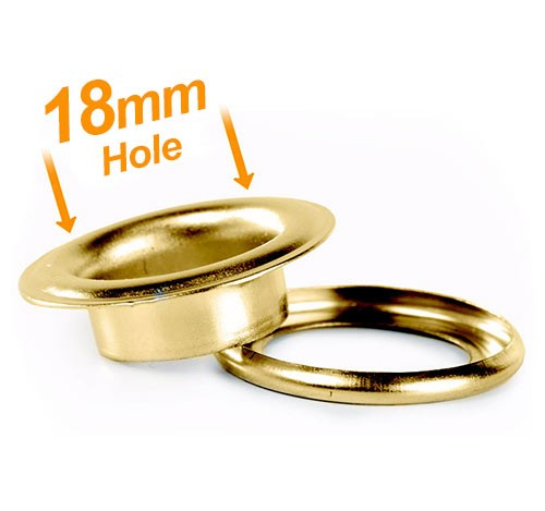 18mm Banner Eyelets Brass Pack 500