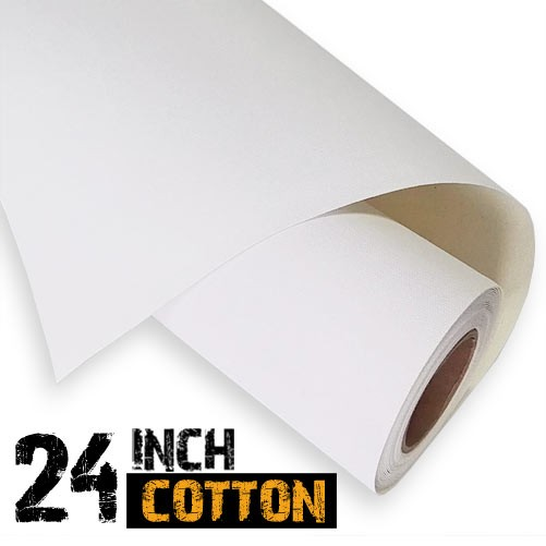 "Inkjet Cotton Canvas Roll 24"" - 340gsm"