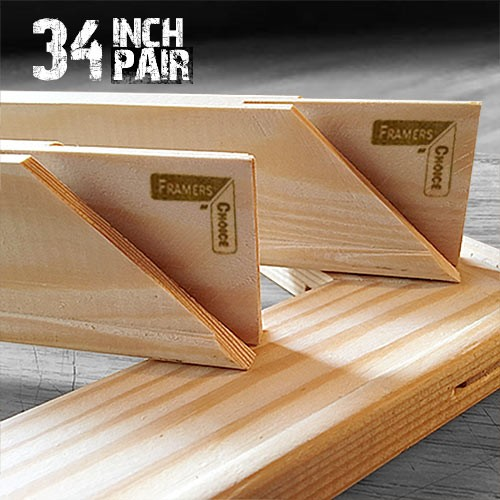 34 inch Canvas Pair of Stretcher Bars