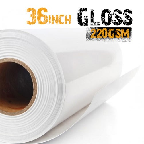 "36"" Inkjet Glossy Photo Paper 220gsm"