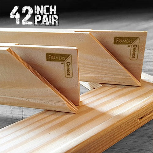 42 inch Canvas Pair of Stretcher Bars