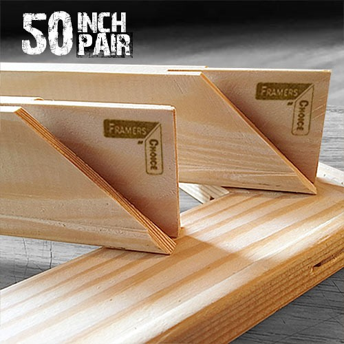50 inch Canvas Pair of Stretcher Bars