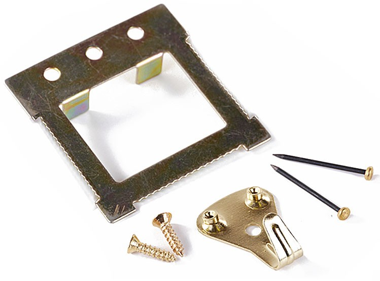 Canvas hanging kit for easy wall hangers of artwork