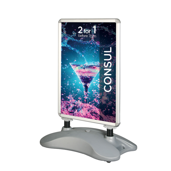 A1 Outdoor Pavement Stand Double Sided
