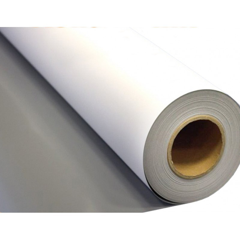 "Solvent Grey Backed, Front Lit P.E.T Film 36"" - 30m"