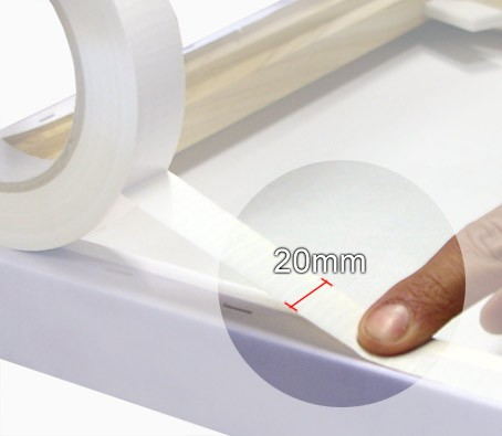 White canvas tape for framing backing of pictures