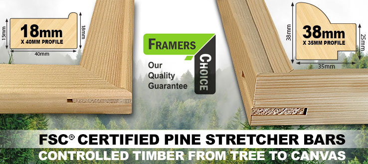 FSC Certified Stretcher Bars